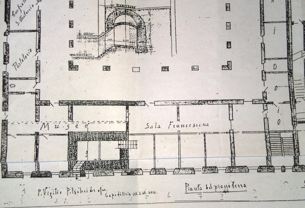 Prihod frančiškanov in zidava samostana
